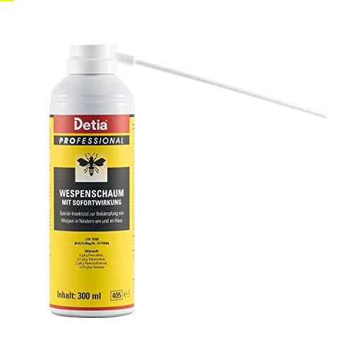 Detia - Wespenschaum - 300 ml - zur Bekämpfung von Wespen in Nestern an und im Haus
