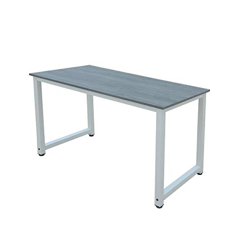 Millhouse Computer Desk Office Study Desk Computer PC Laptop Table Workstation Dining Gaming Table Home Office (Grey-White)