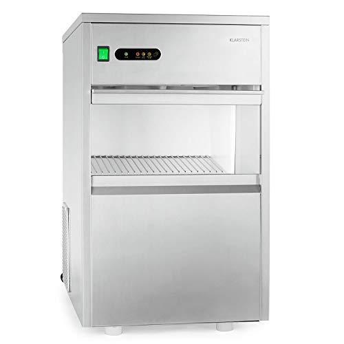Klarstein Powericer Premium Edition XXL - Maquina de hielo industrial, Fabricadora de cubitos, Capacidad 25kg/24 hs,...