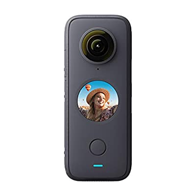 ONE X2 Panoramic Action Camera 5.7K 30fps LCD Touch Screen 10m Body Waterproof HDR APP Editing 360° Live Streaming TimeShift Support Bullet Time with Rechargeable 1630mAh Battery from Insta360-1