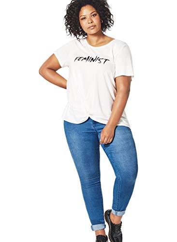 Zizzi Amy Damen Jeans Super Slim Jeanshose Stretch Hose Große Größen 44 (Herstellergröße: 44/ 78 cm) Blau
