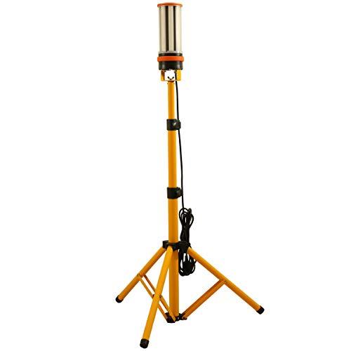 MeFard 60w Led Arbeitslicht Led Baustrahler mit Stativ,6500LM, 360° Rundstahl-Beleuchtung, AC100-277V, IP64 wasserdicht