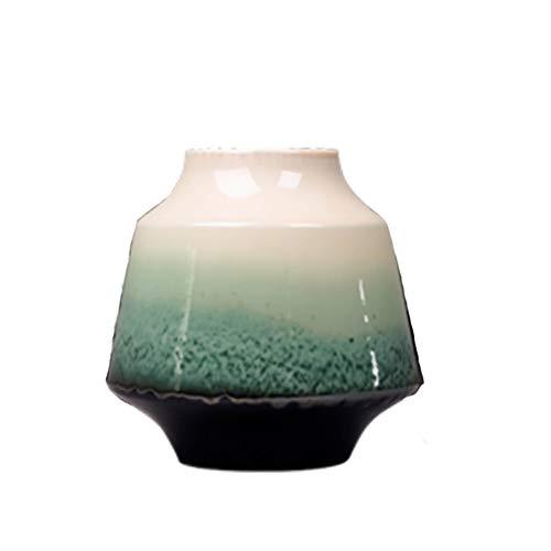 Modern Minimalistisch, Keramische Ornamenten Vaas Emerald Green Nieuwe Chinese Bloem Arrangement Eettafel TV Kabinet Decoratie Decoraties, Ornament Meubels