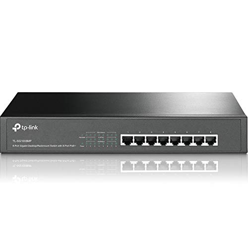TP-Link 8 Port Poe Gigabit Switch | 8 Gigabit Poe+ Port 126W | Energy-Efficient Technology | Prioritized Power Supply | Shielded Ports | Traffic Optimization | Plug and Play | Metal (TL-SG1008MP)