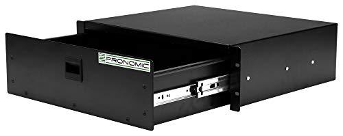 Pronomic RD-103 Rackschublade 3 HE (Schublade für 19 Zoll Rack, Snaplock, Stahlblech) schwarz