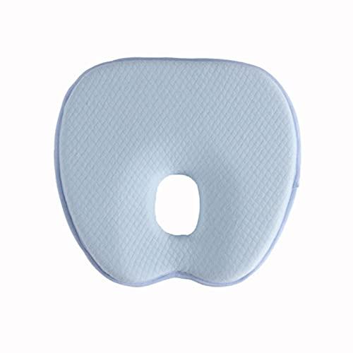 Almohadas para bebé bebé almohada forma de manzana transpirable y antialergia seguridad suave espuma de memoria rebote lento bebé estilo almohada para niños niñas ropa de cama (azul, 23 x 22 cm)