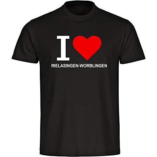 Herren T-Shirt Classic I Love Rielasingen-Worblingen - schwarz - Größe S bis 5XL, Größe:XXXXL
