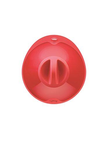 Lékué 1270532R14U002 Couvercle Hermétique Silicone Rouge 34 x 32 x 3 cm