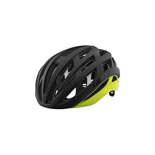 Giro Helios Spherical Adult Road Bike Helmet - Matte Black Fade/Highlight Yellow (2021), Large (59-63 cm)