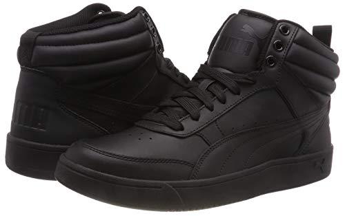 Puma Men's Rebound Street v2 L Black Leather Sneakers-8 (36371601)