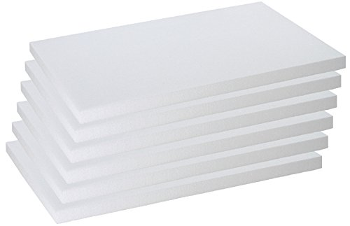 Styroporplatten Stärke 2,5cm Maße 50x33cm im 6er Set