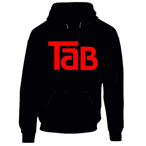 Tab Cola Retro 80s Soft Drink Black Hoodie.