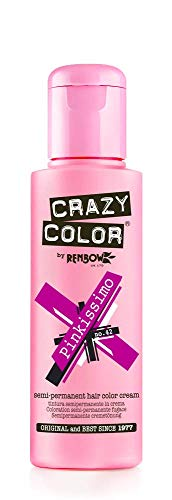 Renbow Crazy Color Crema Colorante Vegetale per Capelli , Pinkissimo - 100 ml, no.42