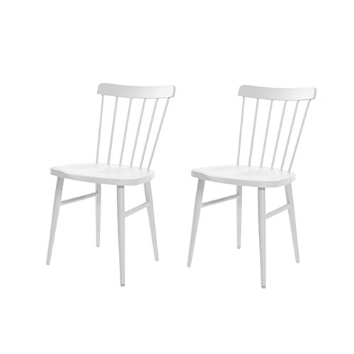 LBYMYB Nordic Windsor Chair American Restaurant Minimalista Moderno Personality Artist Net Red Mesa Y Silla Ins Wind Chair Mesa de café (Color : White, Size : #3)