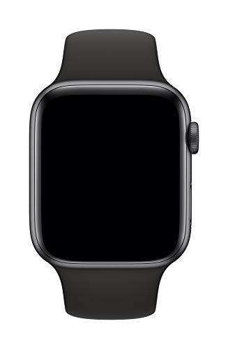 Apple Watch (44mm) Sportarmband, Schwarz - S/M und M/L