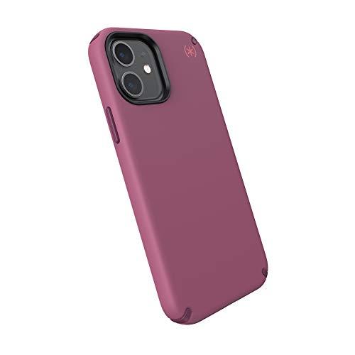 Speck Products Presidio2 PRO iPhone 12, iPhone 12 Pro Case, Lush Burgundy/Azalea Burgundy/Royal Pink