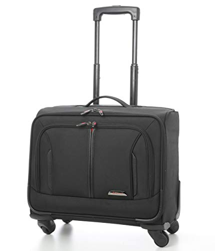 Aerolite Laptop Roll-Koffer Laptop-Trolley Notebooktasche mit 4 Räder Tasche für Laptop 15.6