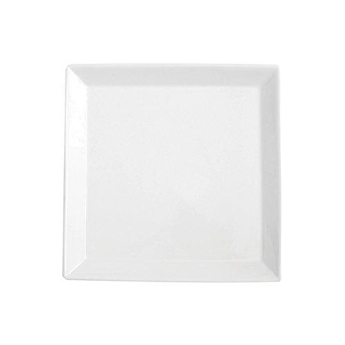 Excèlsa Plat de Service carré Blanc 30 x 30 cm
