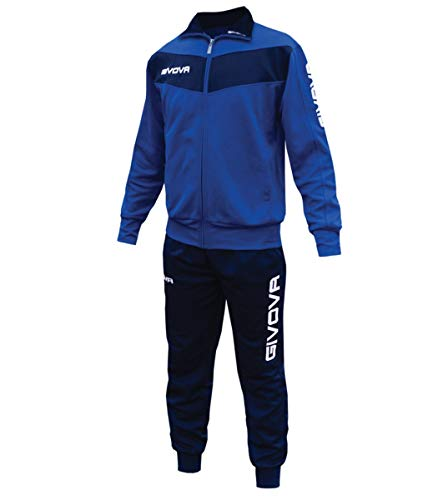 Giosal Completo Tuta Sportiva GIVOVA Uomo Donna Unisex Relax Sport Allenamento Running Visa-Azzurro - Blu -L