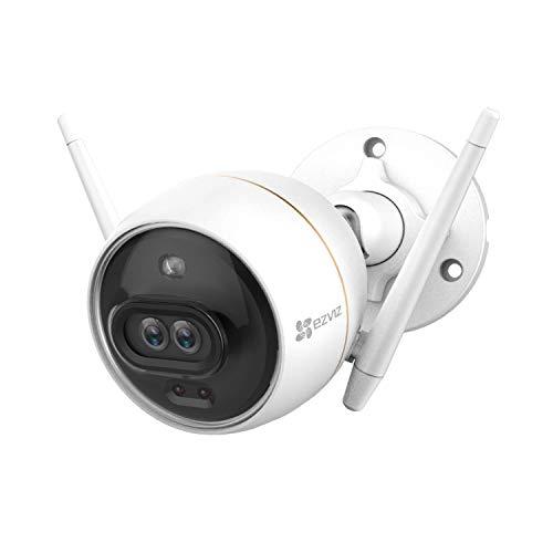EZVIZ C3X Telecamera Wi-Fi Esterno 1080p Videocamera Sorveglianza Esterno wifi con Visione Notturna a Colori, Due Obiettivi Intelligenti, Rilevamento Umano da Algoritmo IA, Audio Bidirezionale, Alexa