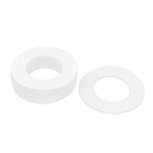 Aexit DN50 102 x 57 x 3mm PTFE-Flanschdichtung Sanitär Rohrverschraubung Aderendhülse Weiß 10Pcs (60acf25ae5e0918f55a772f08bef8d06)