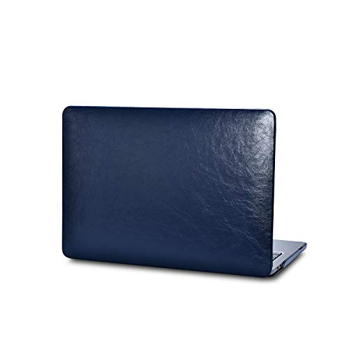 MacBook PRO 13' Ultra Thin Handmade Leather Cases Premium Environmental Mirco-Leather Featured with Waterproof, Wear-Resistant and Easy-Cleaning-Navy Blue