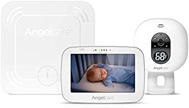 Angelcare 3-in-1 AC527 Baby Monitor, with Movement Tracking, 5'' Video, Sound & Temperature Display on Camera