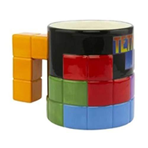 Paladone PP5552TT Tetris-geformte Tasse – Neuheit übergroße Kaffee-/Teetasse aus Keramik – Einzigartige und super lustige Art zu trinken Ihr Lieblingsgetränk, multi