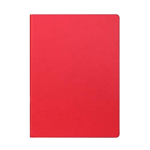 hsj Cuaderno ordenado simple grueso y exquisito cuaderno de estudio, cuaderno de oficina ordenado (color: rojo, tamaño: 21 x 29,7 cm)