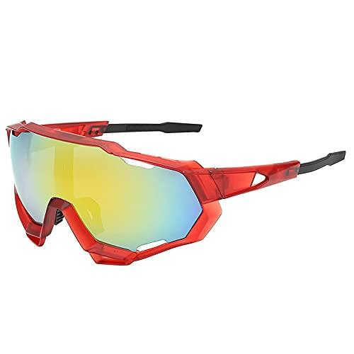Litcom Occhiali da Sole Polarizzati per Donna e Uomo Sport 100% Protezione UV Aste Regolabili per Pesca Kayak Escursionismo Guida Ciclismo (Red)