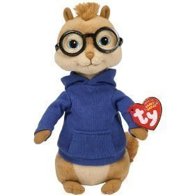 Ty Alvin and the Chipmunks 8' Simon Plush Doll Toy