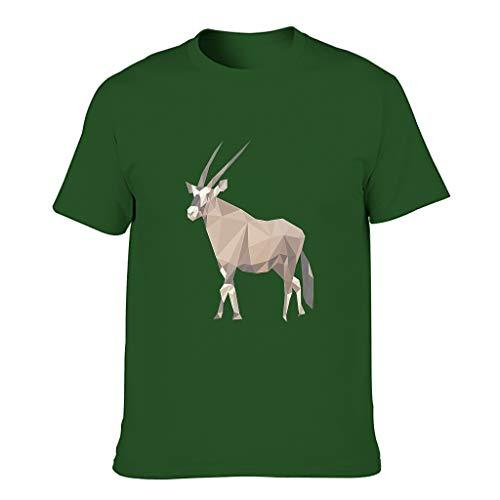 3D Druckten Herren T-ShirtsBaumwolle Tee Regular Fit T-Shirt Motiv Tops T-Shirt T-Stücke Dark green001 3XL