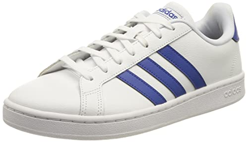 adidas Grand Court, Scarpe da Ginnastica Uomo, Bianco/Blu (Ftwbla Azurea, 43 1/3 EU