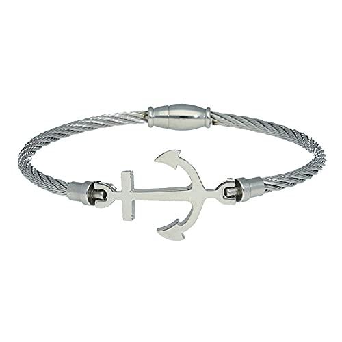 Pulsera Reina Joyeros cordón con Ancla de acero.