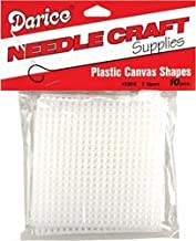 Darice Plastic Canvas 7 Count 3 inch Squares 10 Pack Clear 33018 (6-Pack)