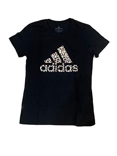 adidas Women's Short Sleeve Amplifier Shirt (Leopard Print Black, Small)