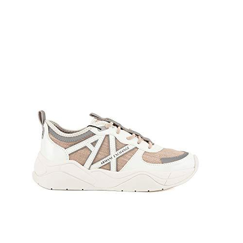 Armani Exchange Cher Chunky Sneaker, Mujer, OP.White+Stone, 41 EU