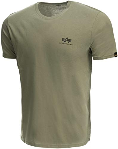 Alpha Industries Basic T Small Logo T-Shirt Militärgrün L