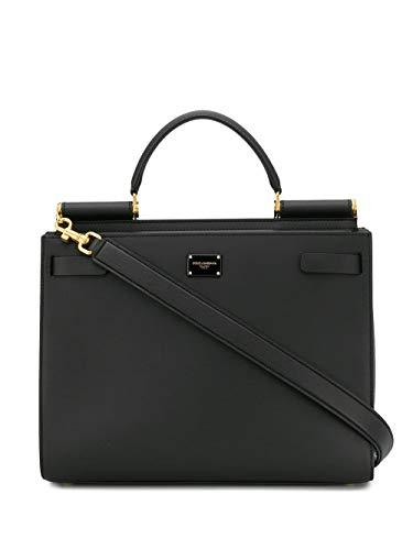 Luxury Fashion | Dolce E Gabbana Donna BB6624AV38580999 Nero Pelle Borsa A Mano | Stagione Permanente