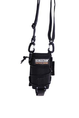 Seibertron Unisexe Tactique UV Durable Resistant H2O Transporteur/Porte-Bouteille d'eau Molle Compatible Bouteille Poche Black
