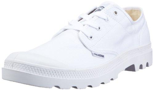Palladium Blanc OX 72885-154-M, Unisex - Erwachsene Halbschuhe, Weiss (White/White), EU 43 (UK 9) (US 10)