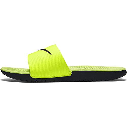 Nike Nike Jungen KAWA Slide (GS/PS) Aqua Schuhe, Mehrfarbig (Volt/Black 700), 35 EU