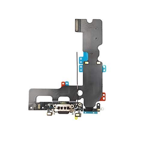 Smartex® Conector de Carga de Repuesto Compatible con iPhone 7 Plus Gris Oscuro - Dock de repeusto con Cable Flex Antena y Micrófono