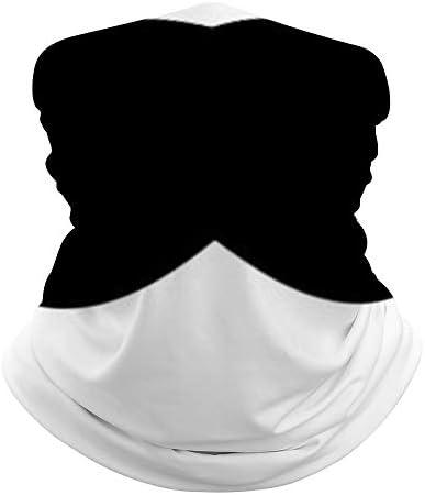 Unisex Seamless Face Mask Bandanas Neck Gaiter Tube Headwear Bandana Black Mustache Face Mask product image