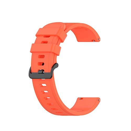 Pulseira de relógio compatível com Huawei Watch GT2/Samsung -Galaxy Watch3/-AmazfitGTR Pulseira de silicone para mulheres e homens