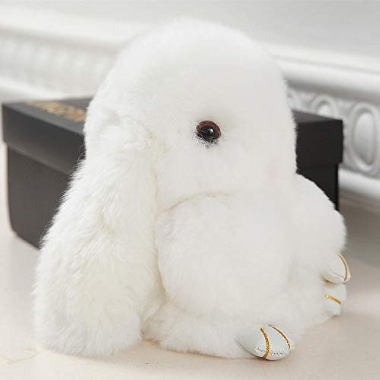 DONGER Cute Bunny Rabbit Rabbit Anhnger Spielzeug Mdchen Kaninchen Tasche Kreative Puppe, Weies Kaninchen, 18 cm