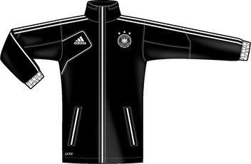 Adidas Veste de pluie DFB (noir/blanc)