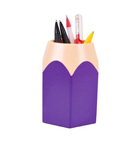 Bleistift Spitzen Stifthalter Tonsee Make-up Pinsel Vase Pencil Pot Schreibwaren Lagerung,Rot (Lila)