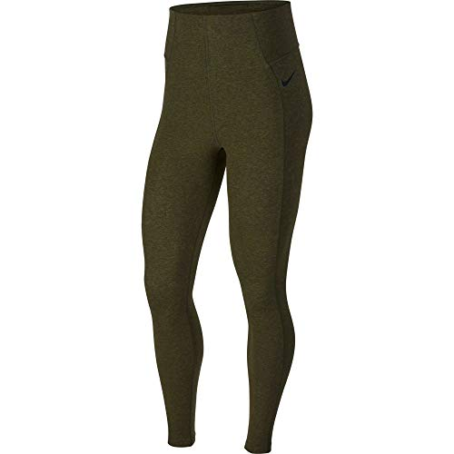 Nike Damen Tights Power L Olivgrün/Schwarz