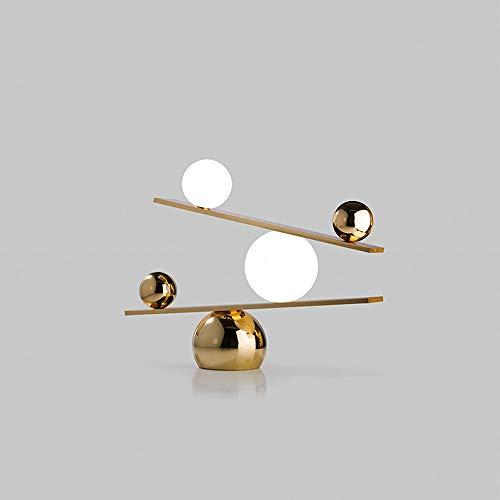 Yjdr Lámpara De Mesa Creativa De 19 Pulgadas Lámpara De Mesa De Vidrio De Mármol De Marmol De Mármol Modelo De Sala De Estar Diseño De La Habitación Lámpara De Mesa Decorativa Personalizada, Fuente De